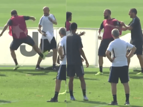 Gonzalo Higuain loses it in training, kicks coach before turning anger on hoarding