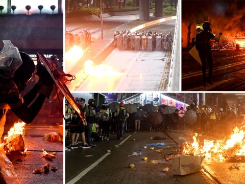 Petrol bombs thrown on streets of Hong Kong on worst day of protests yet