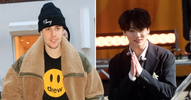 Justin Bieber and BTS Jungkook