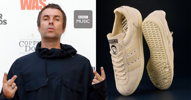 Liam Gallagher personalised Adidas trainers re-sold for £1,000