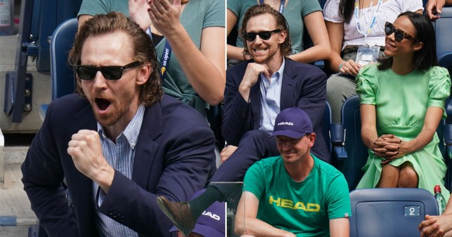 Tom Hiddleston at US Open