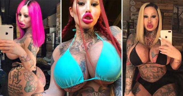 Woman addicted to plastic surgery seen in her bikini