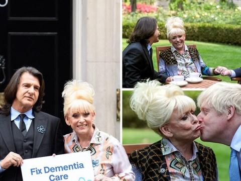 Dame Barbara Windsor kisses Boris Johnson as she makes Downing Street pilgrimage to meet with PM