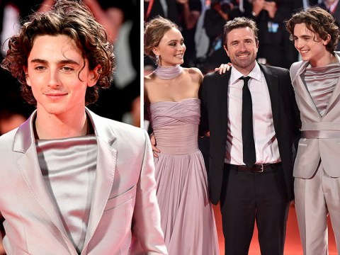 Timothee Chalamet is our menswear saviour as he slays Venice Film Festival in silver suit