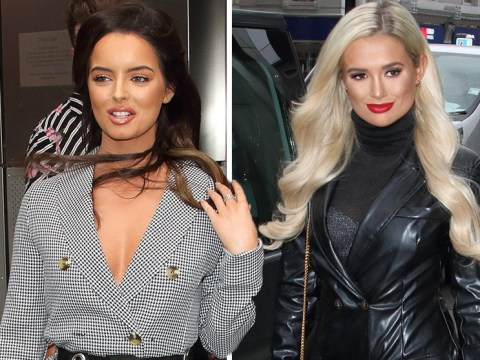 Love Island's Molly-Mae won't give up leather look as she joins Maura Higgins at Tommy Fury's boohoo launch