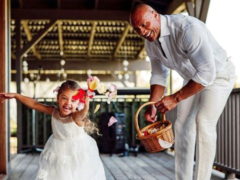 Dwayne 'The Rock' Johnson melts hearts as he thanks daughter Jazzy for taking flower girl duty 'seriously'