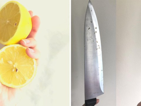 Mum shares simple trick for getting rid of rust stains and water marks on kitchen knives