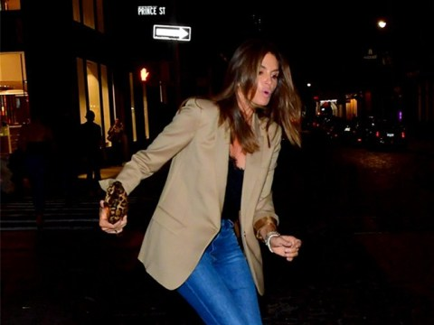 Cindy Crawford takes a tumble after dinner with daughter Kaia, makes it look cool