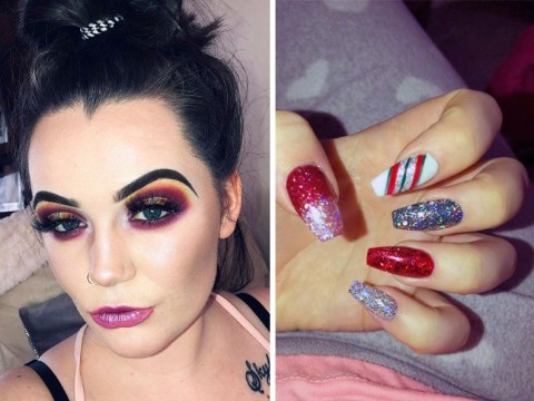 Woman's nail ripped off after manicure with super strength acrylic glue