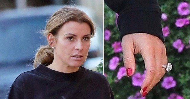 Coleen Rooney flashes diamond wedding ring as she moves on from Wayne cheating claims