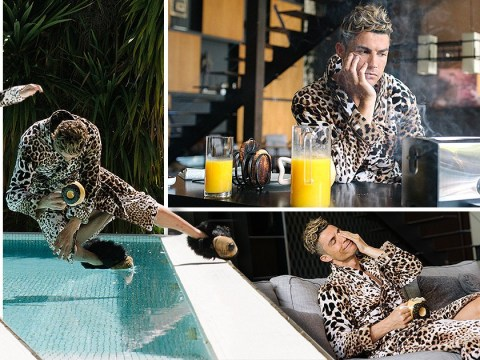 A bad day in the life of Cristiano Ronaldo still involves mansions, swimming pools and leopard-print dressing gowns