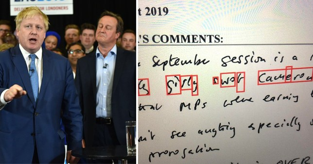 Boris Johnson, David Cameron and leaked note in which Johnson calls his predecessor a 'girly swot'