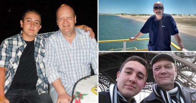 Murdered British expat Joseph John Dempsey with 19-year-old son Joseph