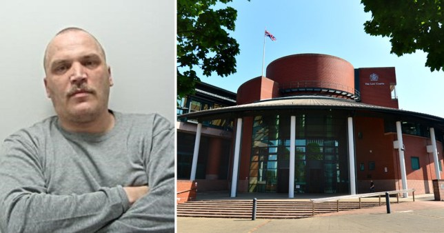 Darren Dale, 41, from Blackpool and picture of Preston Crown Court