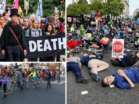 Protesters stage 'funeral procession' in London in bid to make cycling safer