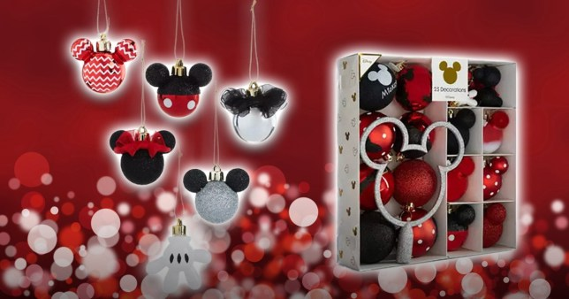 Mickey And Minnie Mouse Christmas Tree Decorations.Primark Launches Much Loved Mickey And Minnie Mouse Baubles