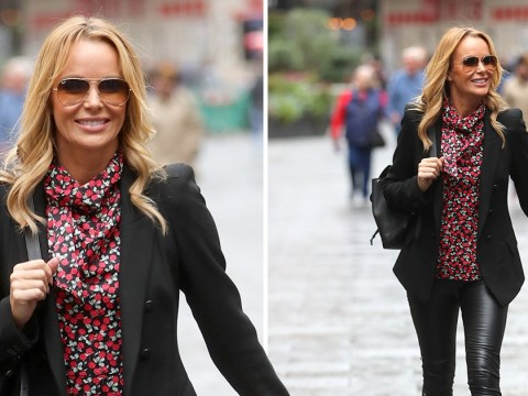 Amanda Holden is a boss in skintight leather trousers weeks after winning Rear of the Year