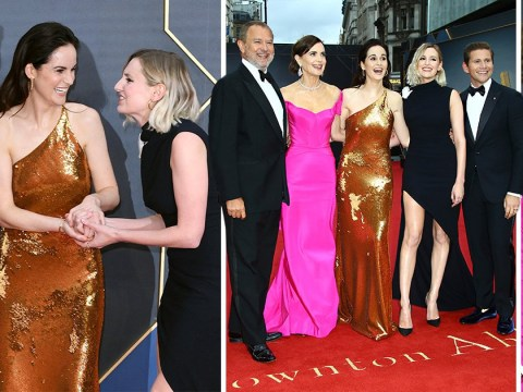 Downton Abbey's Lords and Ladies, Hugh Bonneville, Michelle Dockery and Laura Carmichael celebrate premiere