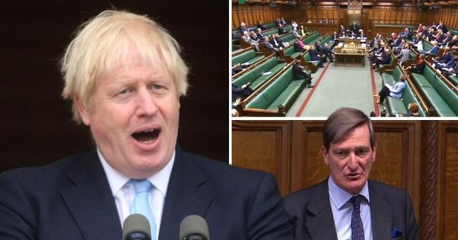 Boris Johnson and parliament