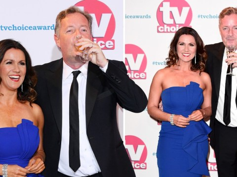 Piers Morgan sips champagne on TV Choice Awards red carpet and he's not even won yet