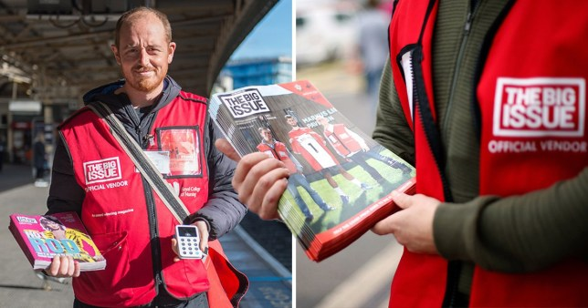 Big Issue sellers going contactless