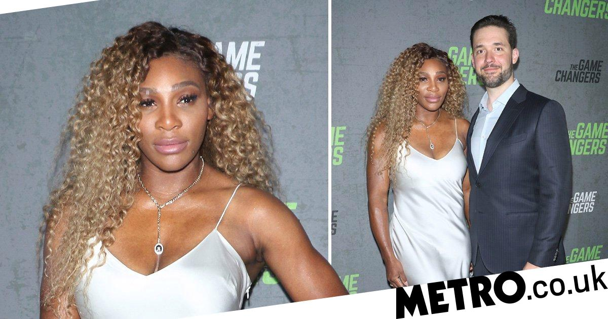 Serena Williams rocks silver (but goes for gold) on premiere date with husband Alexis Ohanian