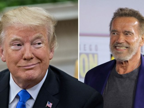 Arnold Schwarzenegger thinks President Donald Trump is 'in love with' and 'wants to be' him