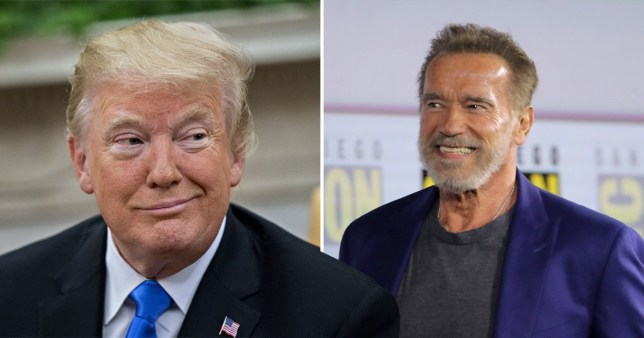 Arnold Schwarzenegger thinks Pres Trump is 'in love' with him