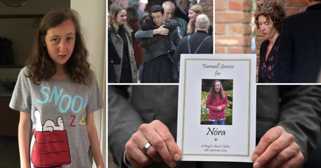 Nora Quoirin funeral