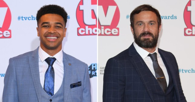 A comp of Asan N'Jie and Jamie Lomas at the TV Choice Awards