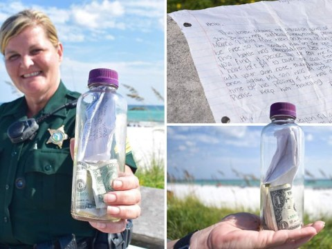 Grieving family's note in bottle floats from Texas to Florida
