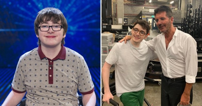 Britain's Got Talent child star Jack Carroll unrecognisable as he reunites with Simon Cowell behind-the-scenes at Champions