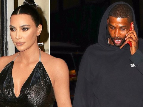Kim Kardashian has awkward run-in with Tristan Thompson as she rocks see-through top for dinner in NYC