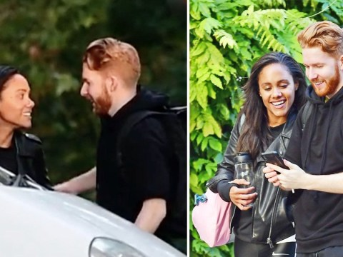 Strictly's Neil Jones and Alex Scott inseparable as they enjoy evening stroll after rehearsals