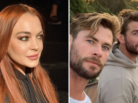 Lindsay Lohan is literally praying to meet up with Liam and Chris Hemsworth