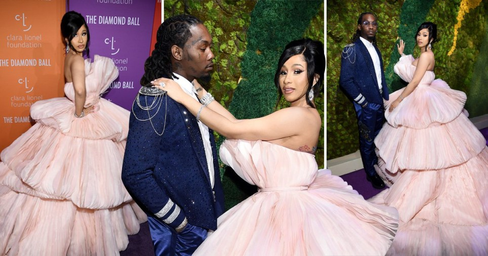 Cardi B stuns in pink gown and raves over Rihanna's 'genius' Diamond Ball
