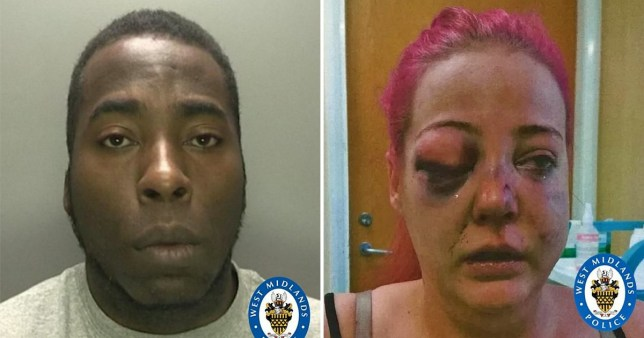 Abusive thug fractured girlfriend's face by smashing her head through car windscreen