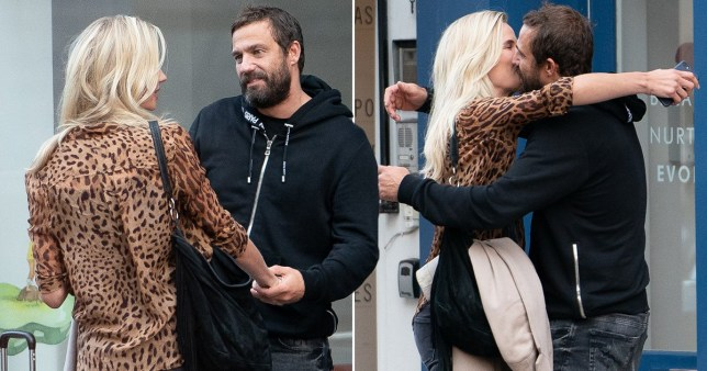 Jamie Lomas kisses woman in the street