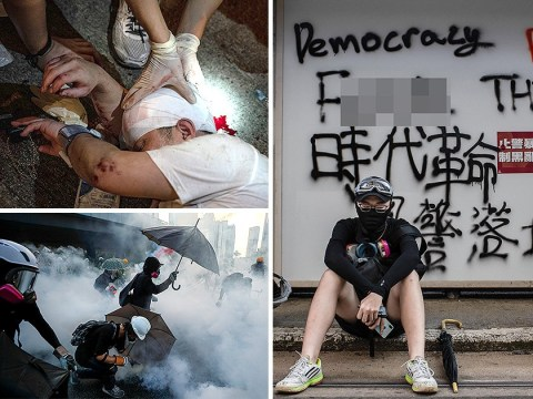 Hong Kong protesters blasted with water cannons and tear gas as unrest continues