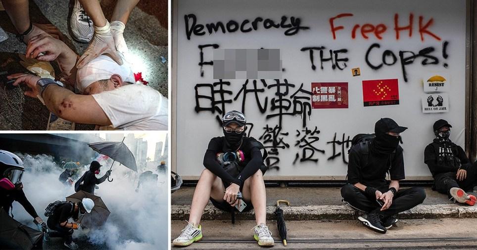Pro-democracy protests in Hong Kong. China on September 15, 2019