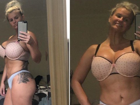 Kerry Katona proudly bares 'lumps, bumps, stretchmarks and cellulite' in underwear selfie