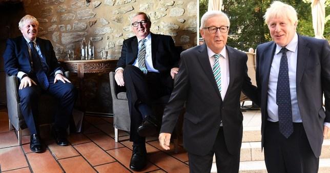 Boris Johnson meeting European Commission President Jean-Claude Juncker in Luxembourg City