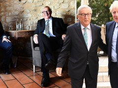 Boris 'cautious' as he meets Jean-Claude Juncker for first time as PM
