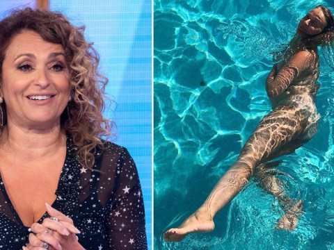 Nadia Sawalha praised for defiant nude snaps as she goes skinny dipping on family holiday