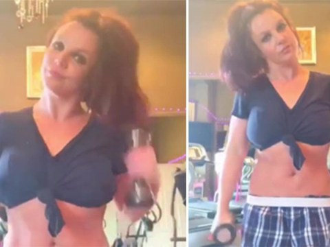 Britney Spears sports black makeup for intense workout after conservatorship drama