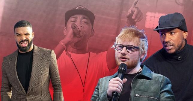 Wiley, Drake, Ed Sheeran, Skepta