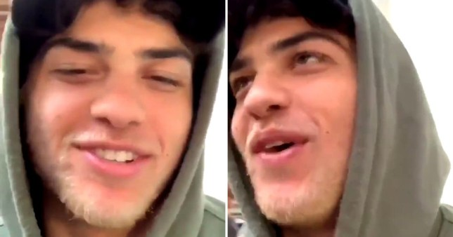Noah Centineo is blonde