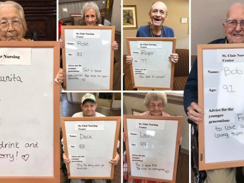 Care home residents give daily advice to the younger generation and it's adorable