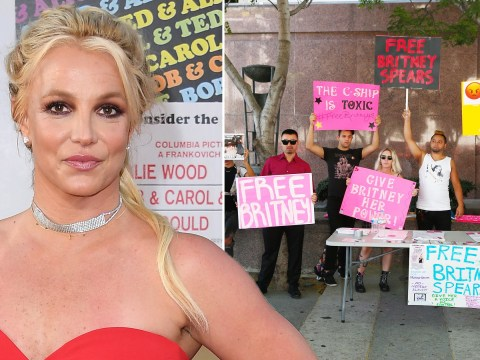 Britney Spears fans rally to 'free Britney' at protest as parents appear at court