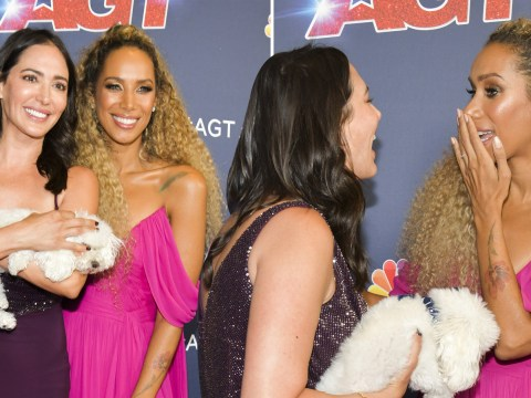 Leona Lewis and Lauren Silverman are all smiles as Kodi Lee wins America's Got Talent final